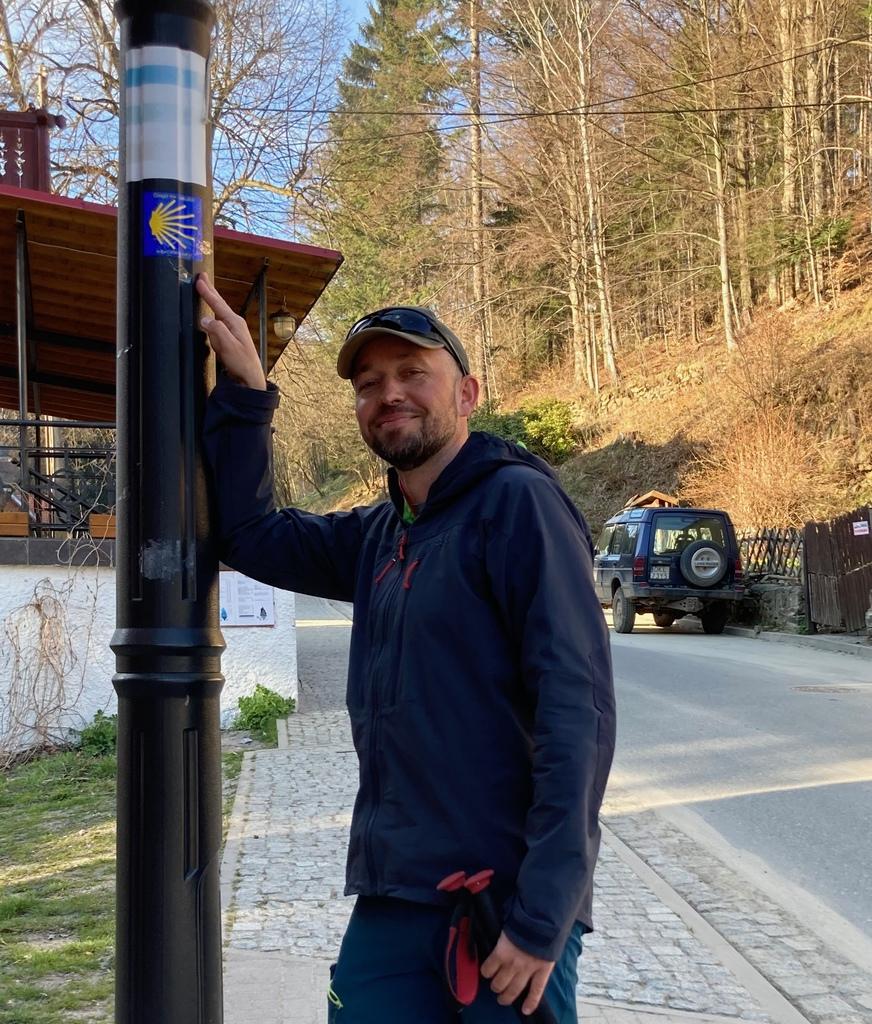 Tomasz Deron na początku trasy w Międzygórzu