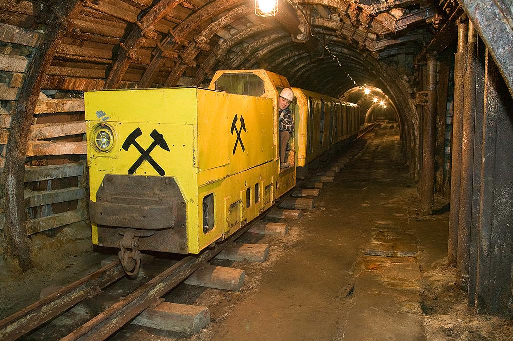 Podziemna kolejka w Starej Kopalni w Nowej Rudzie