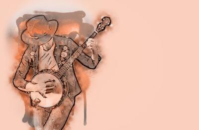 Ilustracja - muzyk z gitarą