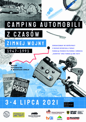 Plakat campingu automobili
